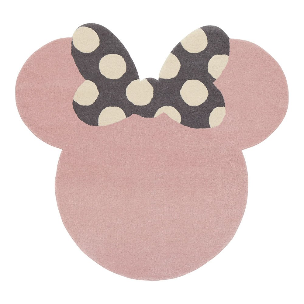 Ethan Allen | Disney I See Minnie Mouse Rug, 5' x 5', Petal Pink