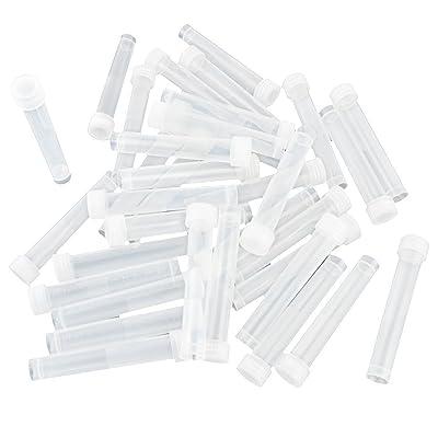 sourcingmap® 10ml Flacon en plastique fond conique blanc clair Tube w capuchons à vis 100 PC