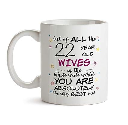 Amazon 22nd Wife Birthday Gift Mug