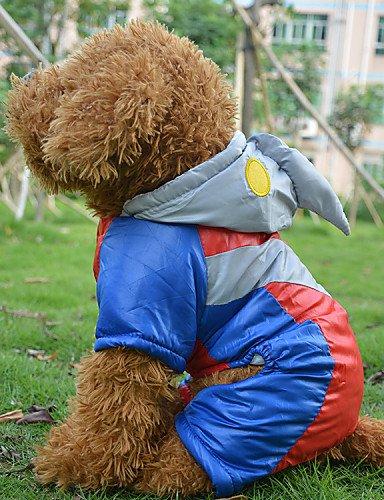 Rojo Cosplay algodón Ultraman Supper Man viento abrigos para perros, M: Amazon.es: Productos para mascotas