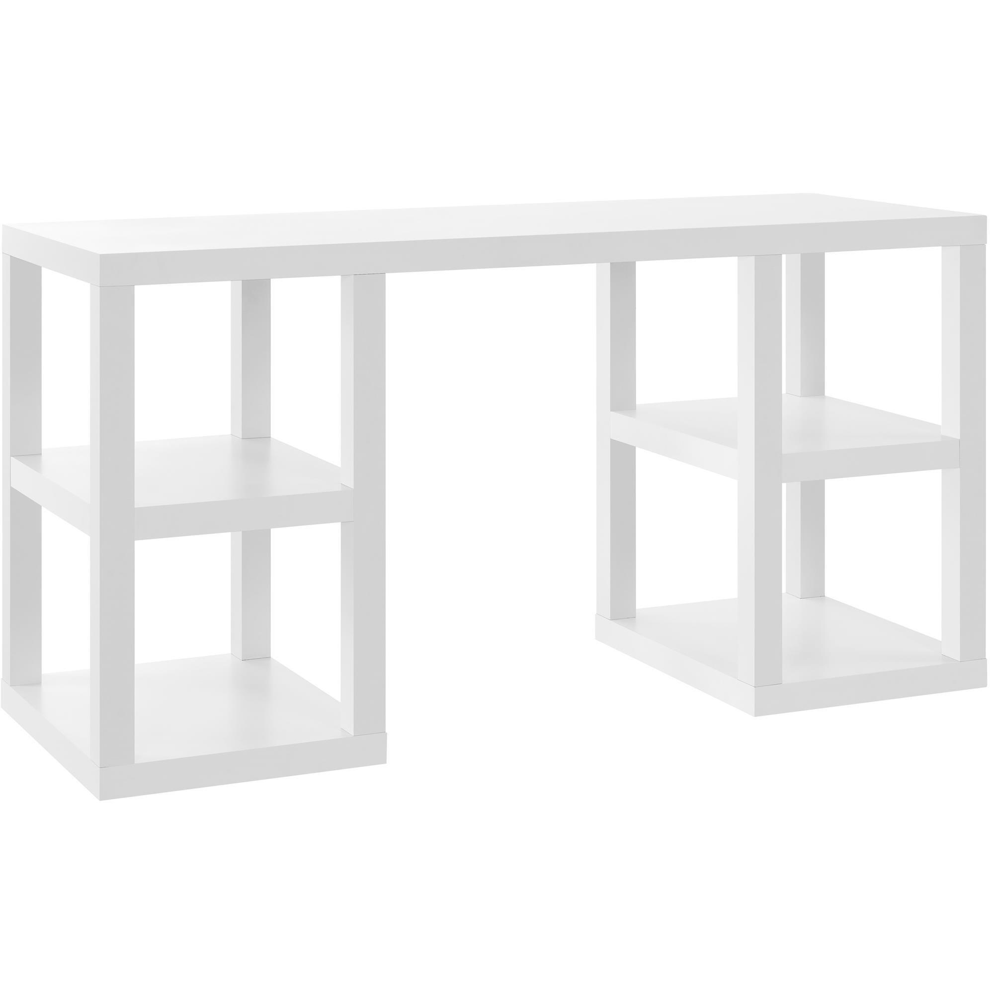 Ameriwood Home 9318596COM Parsons Deluxe Desk, White