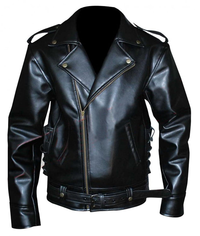 Johnny Depp Cry Baby Motorcycle Mens Biker Stylish Black Faux Leather Jacket