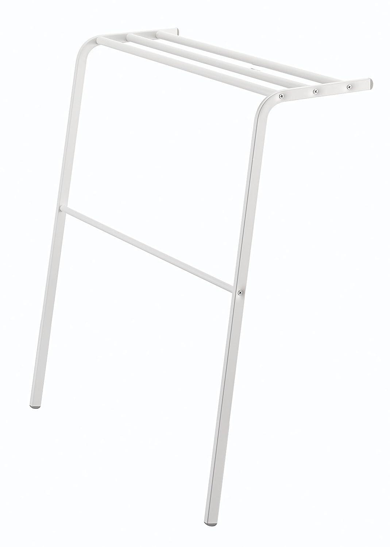 YAMAZAKI homePlate Leaning Bath Towel Hanger White,