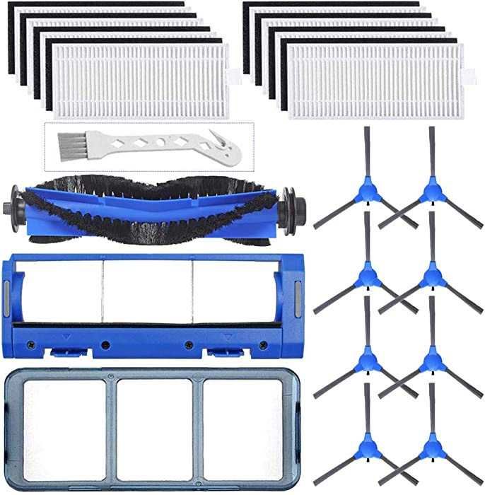 LesinaVac Replacement Parts Kit for Eufy 11s RoboVac 11S & RoboVac 30 & RoboVac 30C & RoboVac 15C Robotic Accessories (8 Filters,8 Side Brushes,1 Main Brush,1 Primary Filter,1 Rolling Brush Guard.)