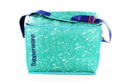 Tupperware Picnic Cooling Bag XXL Foldable with Carry Straps Turquoise/Blue