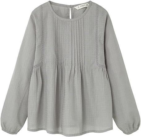 MANGO KIDS - Blusa - para niña gris gris 11-12 Años: Amazon.es: Ropa y accesorios