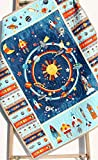 Space Adventure Quilt Baby Boy Outer Space Spaceship Rocket Planets Moon Crib Blanket