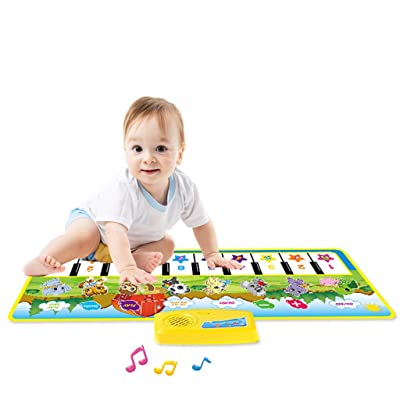 Kids Piano Mat Musical Dance Mat, Electric Keyboard Piano, Electronic Piano Mat, 1 Year Old Boy Girl Gifts, Kids Musical Instruments, Electronic Piano Mat Play Keyboard Music Singing Carpet Mat: Beauty