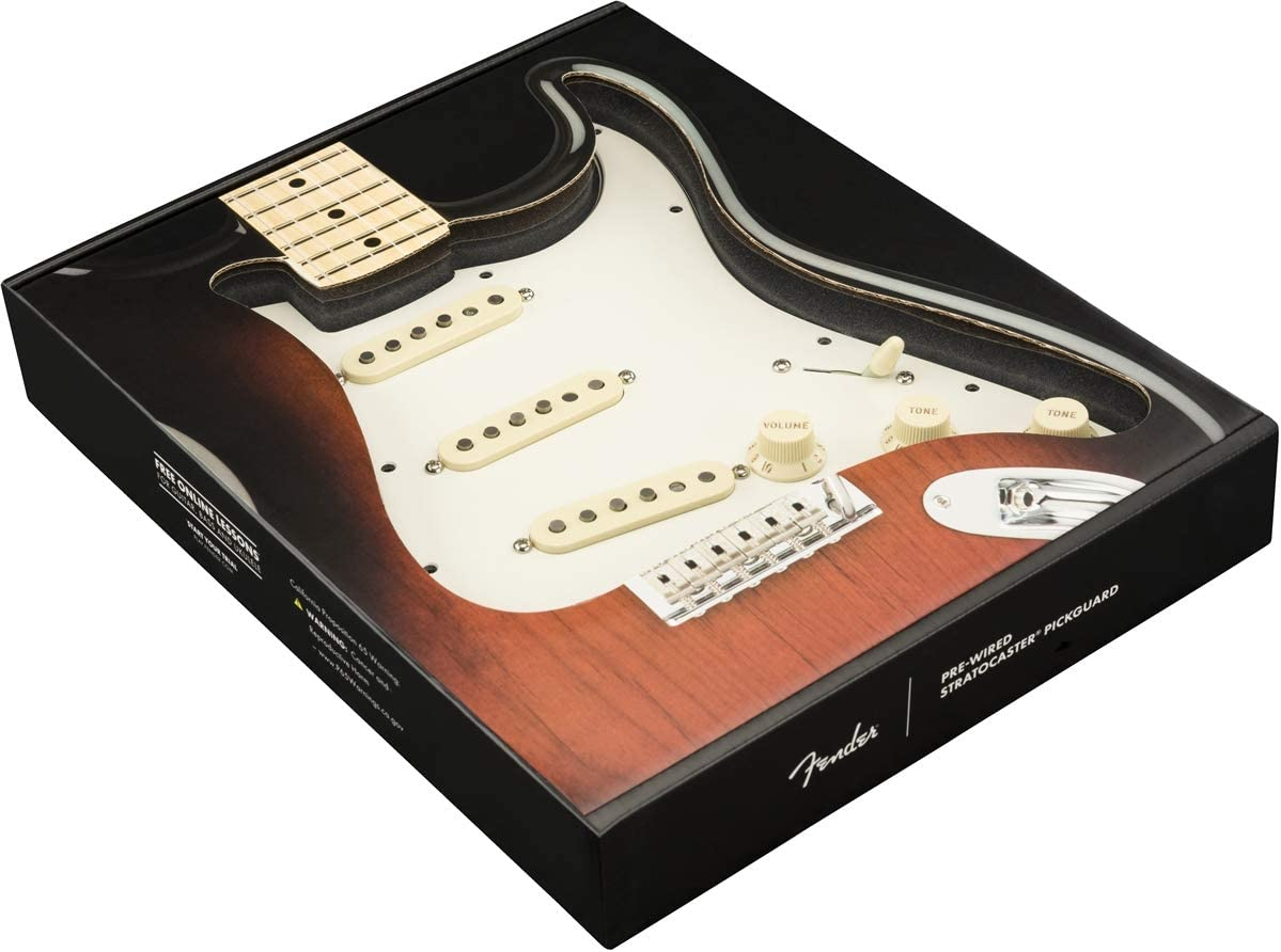 0992340509 Fender Pre-Wired Strat Pickguard Custom Shop Fat 50s SSS Electric Guitar Electronics