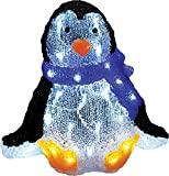 Northlight 11.5'' Lighted Commercial Grade Acrylic Sitting Baby Penguin Christmas Display Decoration