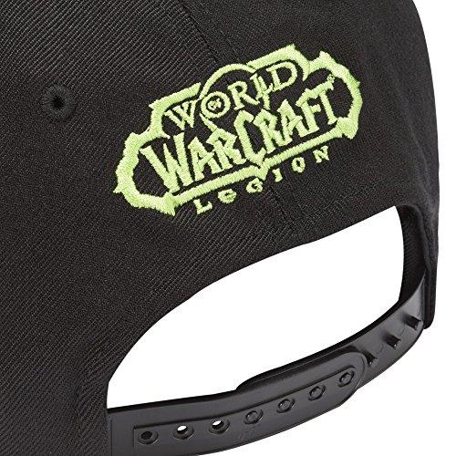 JINX-World-of-Warcraft-Legion-Logo-Snapback-Baseball-Hat-Black-One-Size