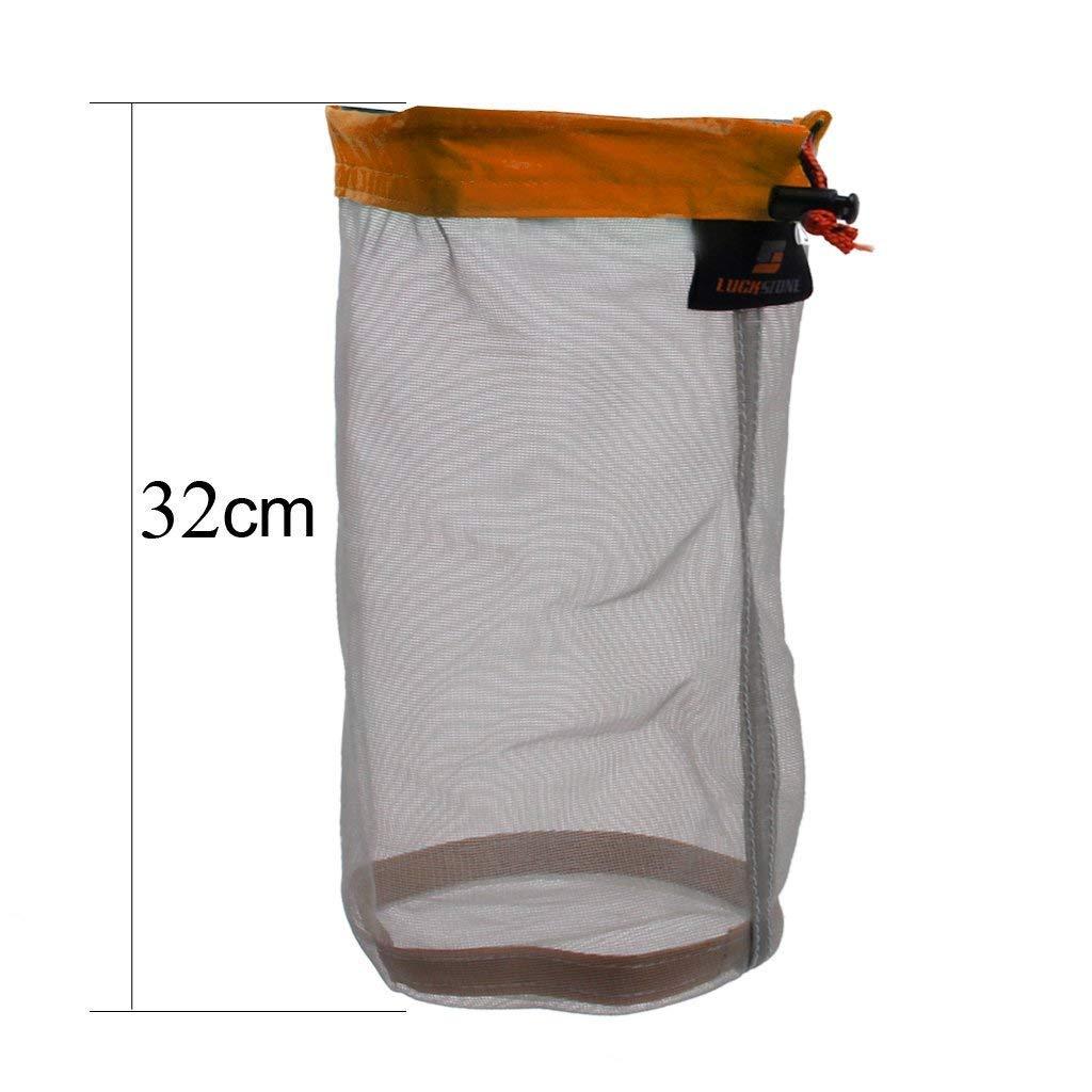 Yundxi Ultra Ligero Viajar Camping Nataci/ón Mesh Bag Pack Saco Saco de Transporte Saco de Equipaje Bolsa de Malla