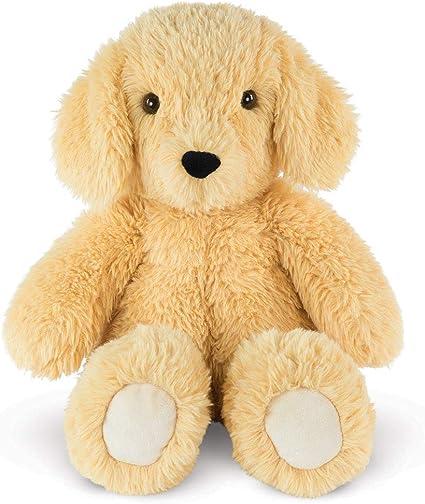 "Build A Bear light Brown White Tan Puppy Dog Plush 13/"" Stuffed BABW sitting"