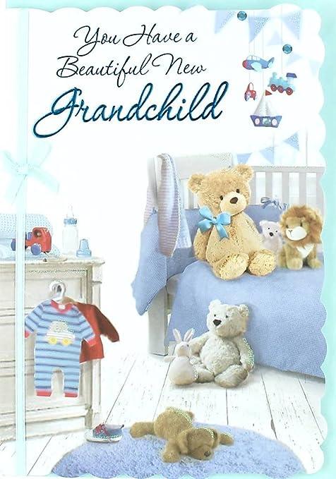 Nacimiento de bebé, 8 páginas Reflejos tarjeta de felicitación ...