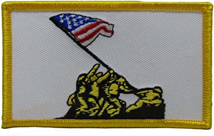 Military Marines USMC Mess Best Flag Wholesale lot of 3 Iron On Patch U.S