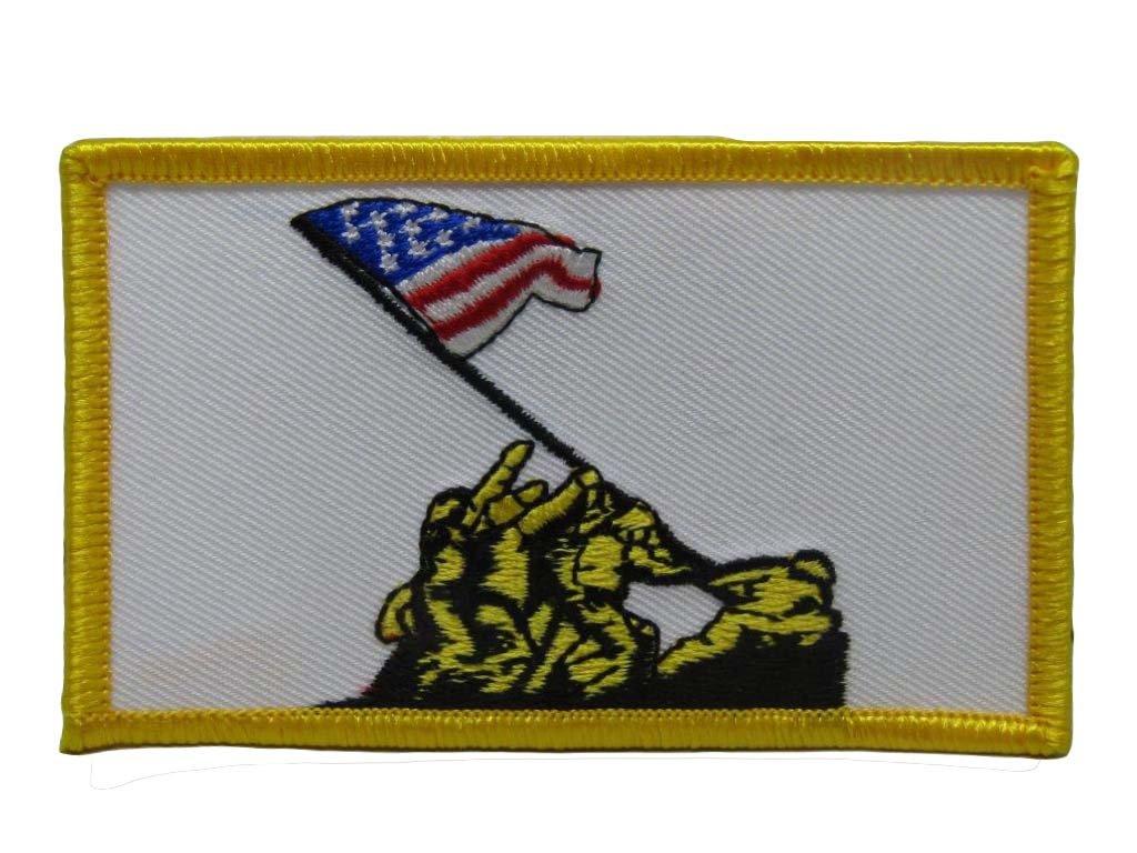 U.S. Military Iwo Jima Marines USMC Flag Iron On Patch