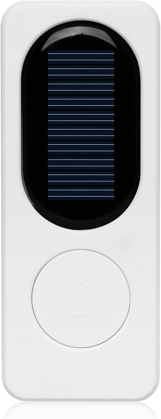 Solaire Carillon Sonnette sans fil avec 2/r/écepteur 1/transmetteur Bouton poussoir avec 2/LED Lumi/ère de nuit 52/Chimes