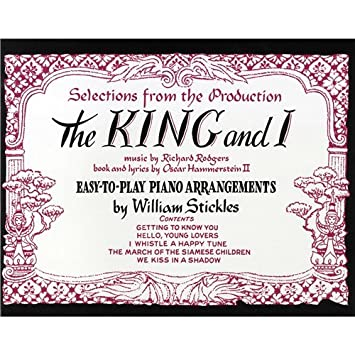 The king and i easy piano sheet music for piano vocal guitar the king and i easy piano sheet music for piano vocal guitar stopboris Images