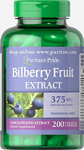 Puritan's Pride Bilberry 375 mg-200 Capsule