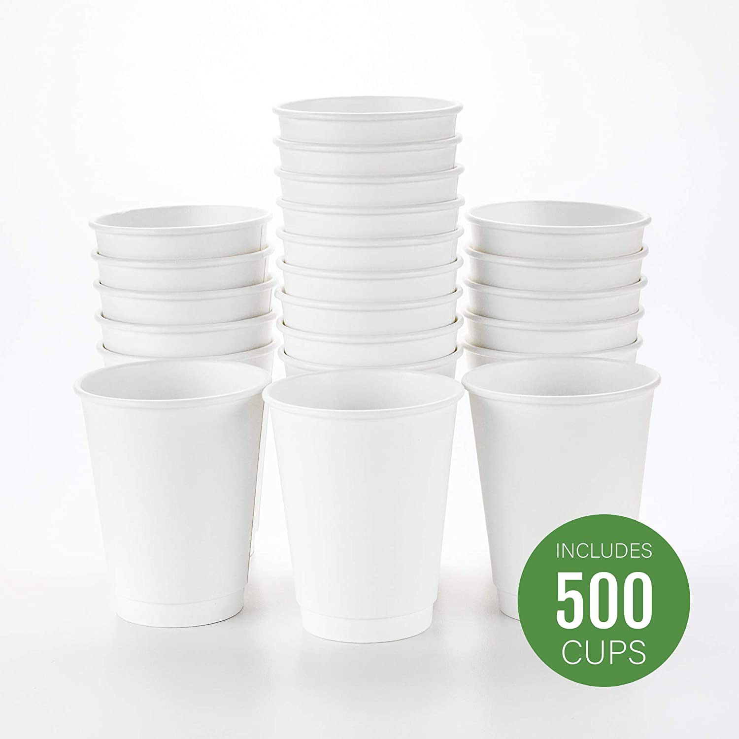 Details about Disposable Coffee Cups Triple Wall 4,8,12 &16Oz WLids Takeaway Bulk Coffee Cup