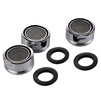 Sumnacon 3 Packs Low Flow Faucet Aerator - 24 mm Male Thread ...