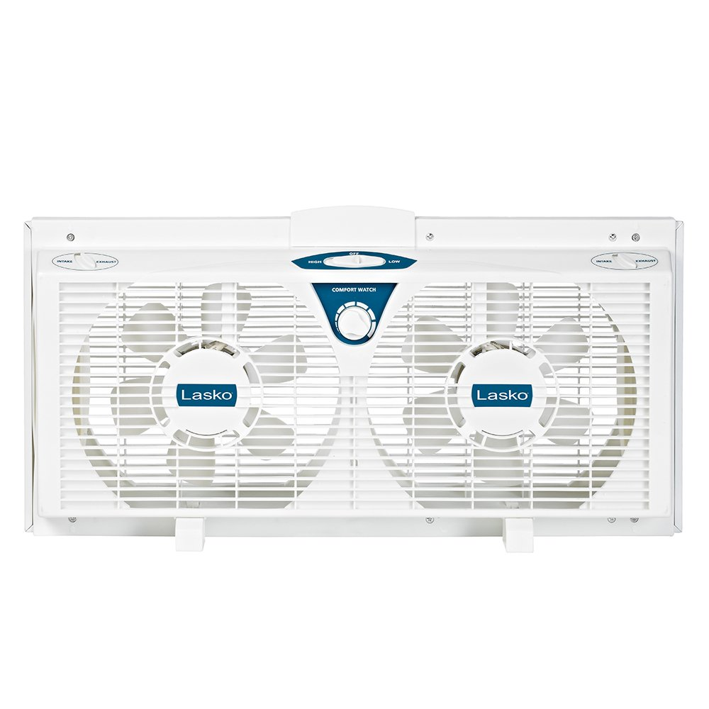 Lasko Twin Electric Reverse Window Fan EA