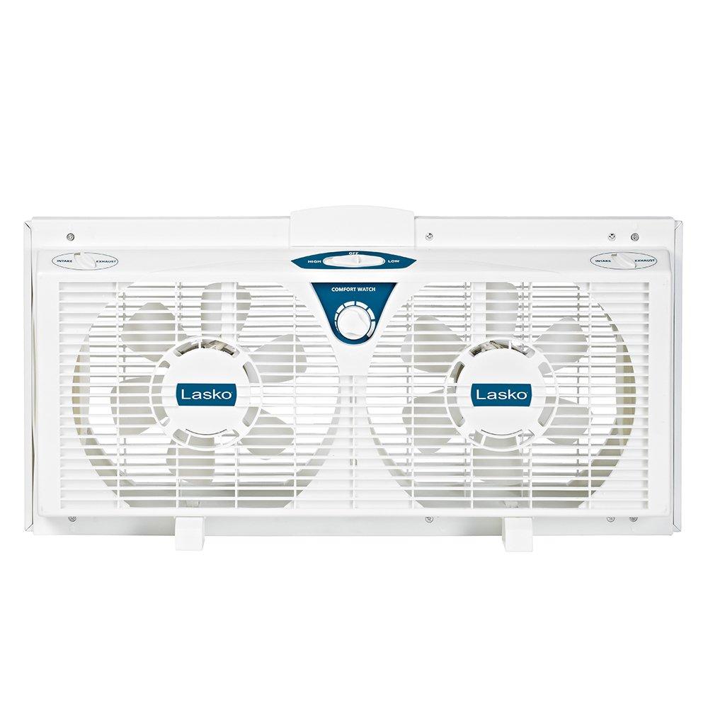 Lasko 2138 8-Inch Electrically Reversible Twin Window Fan
