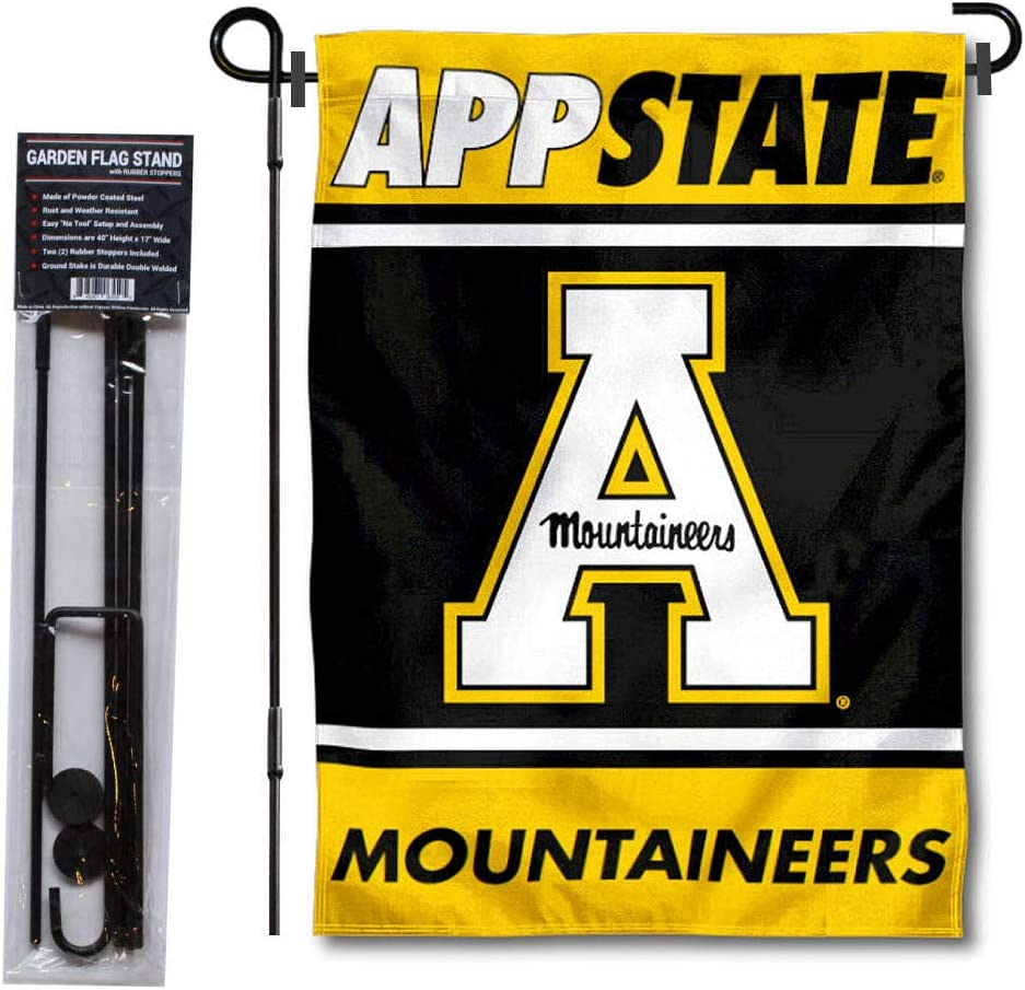 College Flags & Banners Co. Appalachian State Mountaineers Garden Flag with Stand Holder