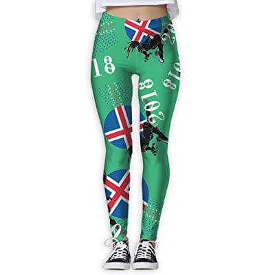 2018 Play Football Iceland Women Printed Sports Yoga Pants Exercise Athletic Pants Fashion High Waisted Yoga Leggings