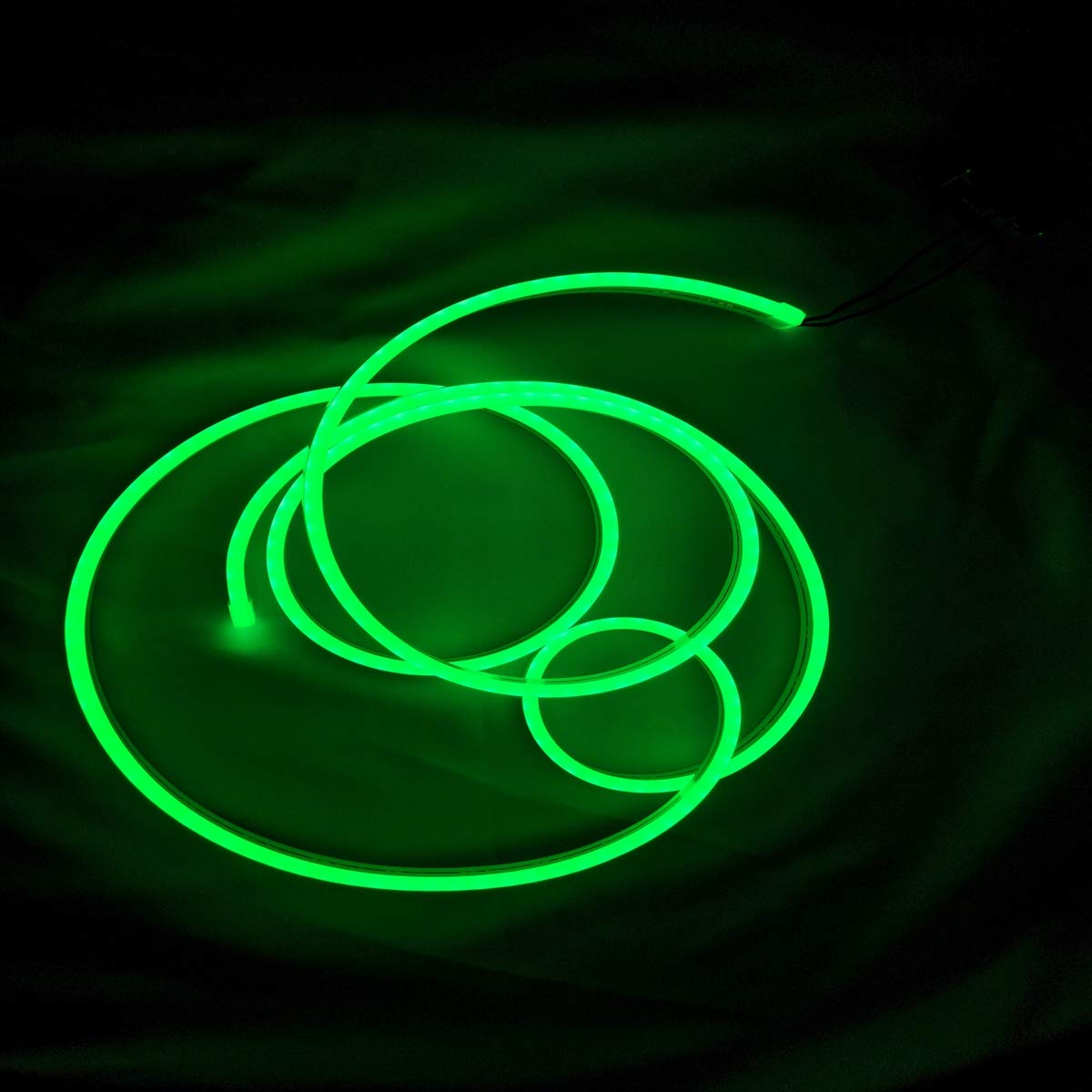 DC12V LED Silicone Neon Rope Lights,Waterproof Light Strip Kit,33FT/10m Flexible Neon Light for Indoors Outdoors Signboard, Brand Logo Letters Making and Home Festival Decor (Green)