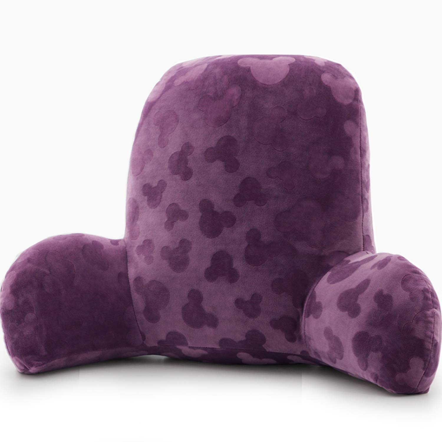 Qianhe Embossed Plush Reading Pillow - Best Bed Pillow with Arm Reading Bed - Perfect for Teens, and Kids (Violet)