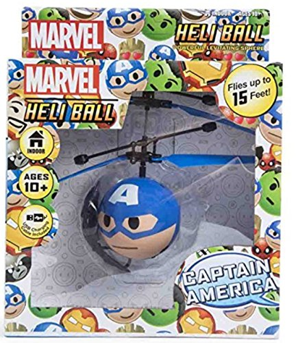Marvel Avengers Heliball Flying Helicopter Powerful Levitation Sphere (CAPTAIN AMERICA)