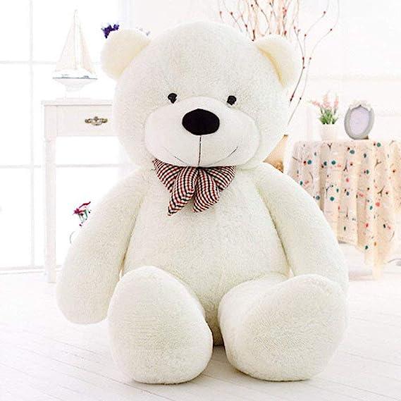 MoreGentle-120 cm colchón gigante blanco oso peluches de regalo XXL: Amazon.es: Juguetes y juegos