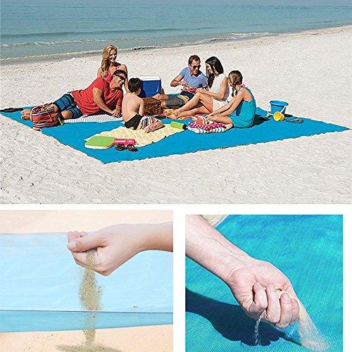 LF-Water Toys Estera De Playa Playa Costa Picnic Multicolor Portátil Viaje Al Aire Libre Suministros Magia Reloj De Arena...
