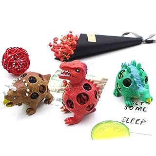 Footprintse Dinosauro Modello Grape Balls Stress Relief Hand Ball Sensory Fun Spremere Giocattolo di decompressione Spremere Palla per Bambini Adulti