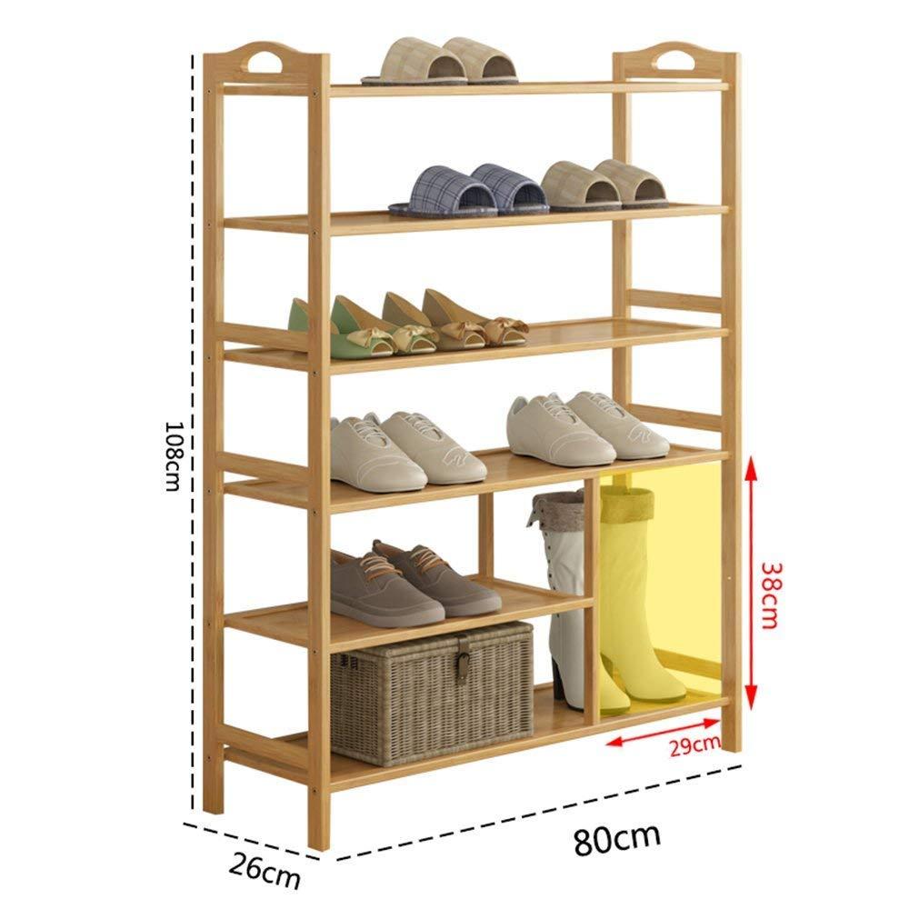 XQY Estante de Zapatos de Madera para el hogar Estante para Zapatos Zapatos Simples Gabinete Estante de Almacenamiento Multiusos a Prueba de Polvo gabinete de Zapatos Estante para