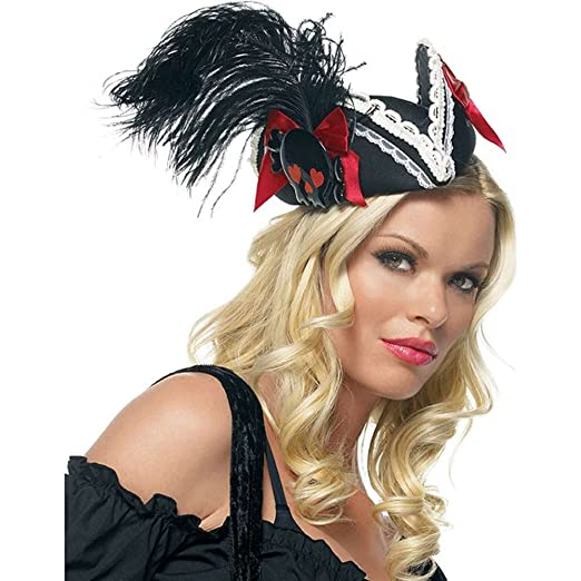 Amazon.com Black Pillbox Pirate Hat Costume Accessory Costume Headwear And Hats Clothing  sc 1 st  Amazon.com & Amazon.com: Black Pillbox Pirate Hat Costume Accessory: Costume ...