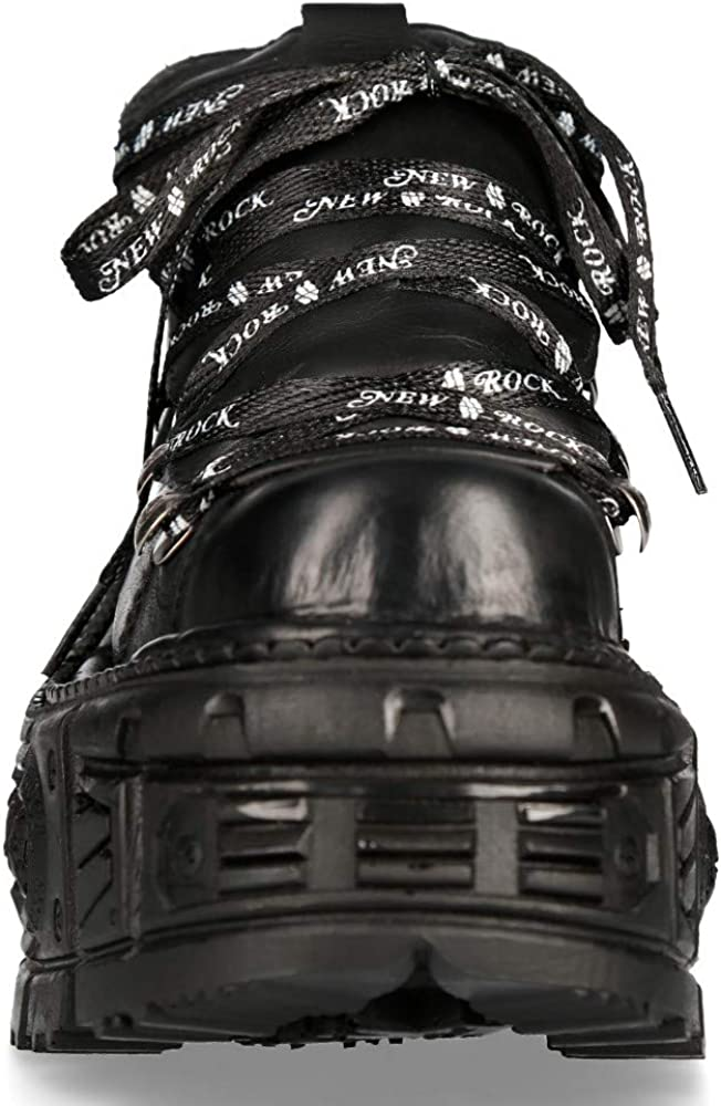 Scarpe in pelle militare unisex New Rock originale Piattaforma M.TANK120NSHLACE-S1