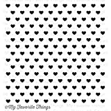 My Favorite Things Tiny Hearts Background Cling Rubber Stamp, 6 by 6''