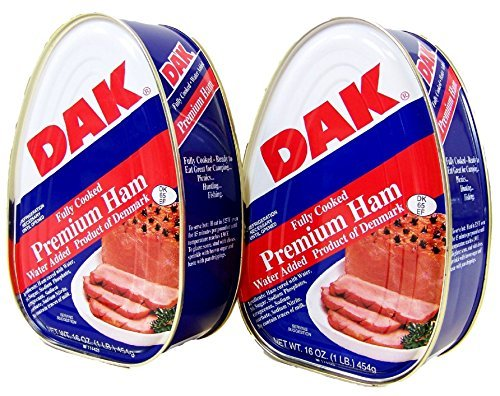 Dak Premium Canned Ham 16oz Fully Cooked, Ready to Eat (2 Pack) by DAK