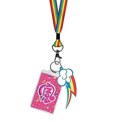 Amazon.com: My Little Pony Rainbow Dash Logo y llavero ...