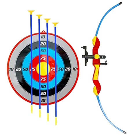 2df8d60bf3a Amazon.com  Liberty Imports Sport Toy Archery Bow and Arrow Set for Kids  with Suction Cup Arrows and Target  Toys   Games