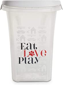 You & Me Eat, Love, Play Clear Food Storage Container for Dogs, 10.7