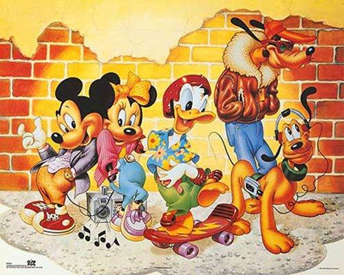 Bruce Teleky Walt Disney Mickey & Friends: Brick Wall. Children's Print Poster (20 x 16) from Bruce Teleky