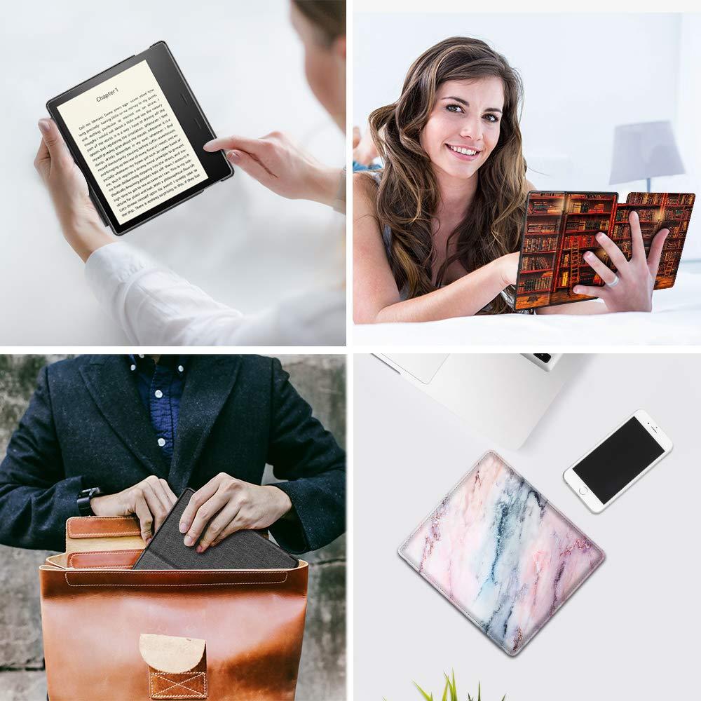 Jade CASEBOT Etui Nouveau Kindle Oasis 2019 10/ème//9/ème G/én/ération, Mod/èle 2019//2017 Housse Coque Cover Flip Fin avec Fermeture Magn/étique et Mise en Veille Automatique pour Kindle Oasis