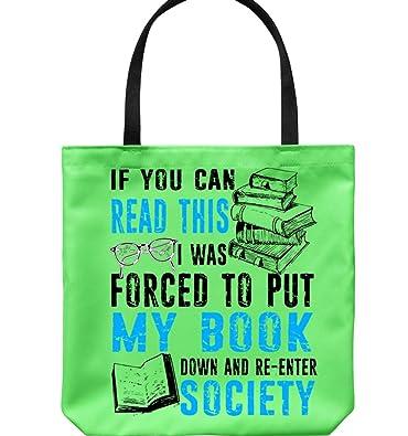 Amazon.com: Bolsas de lona con texto en inglés