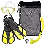 NAGA Sports Kids Snorkel Set - XS/XXS Yellow