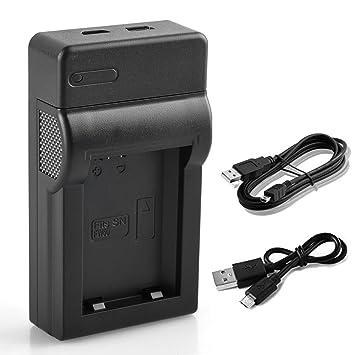 BPS NP-FW50 Cargador de Batería + Micro y Mini Cable USB para Sony Alpha 5100, a5100, Alpha 7, a7, Alpha 7R, A7R, Alpha 7R II, ...