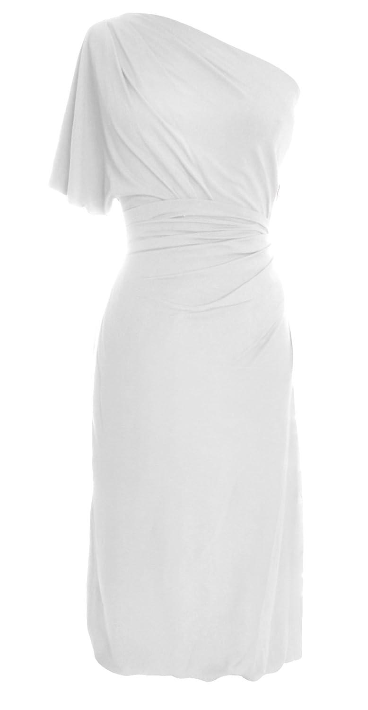 MACloth Women One Shoulder Jersey Short Formal Evening Dress Wedding Party Gown
