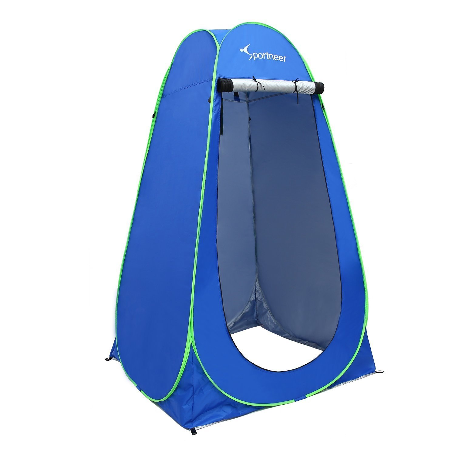 Sportneer Pop Up Camping Shower Tent, Portable Dressing Changing Room Privacy Shelter Tents for Outdoor Camping Beach Toilet and Indoor Photo Shoot with Carrying Bag, 6.25 ft Tall (Blue) by Sportneer